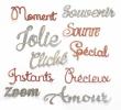 10 mots grand format pailletés argent & bronze lot 2