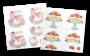 2 planches 3D prédécoupées Cupcake Boutique Délices sucrés