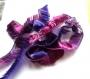 """32 cm de fibre à franges """"prune"""""""