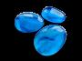 3 galets turquoise marbrés