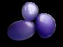 3 galets violets