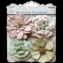 4 belles grosses fleurs Little Birdie Noisette