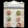 6 brads petites roses Little Birdie Noisette