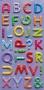 Alphabet Glitter Puffy multicolore