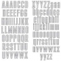 Alphabet Heidi Swapp Invisibles quadrillés