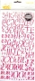 Alphabet Thickers Amy Tangerine LOVELY rose foncé