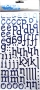 Alphabet Thickers SENTIMENT Bleu marine foil
