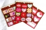 Assortiment 3 planches stickers St Valentin