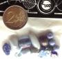Assortiment perles verre et céramique bleu