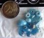 Assortiment perles verre et céramique turquoise