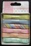 Boîte de rubans de satin pastels