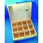 Boîte en bois 12 compartiments