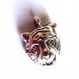 Breloque métal tête de tigre