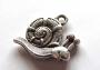Breloque métal escargot