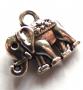 Breloque métal éléphant