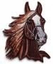 Broderie grande tête cheval