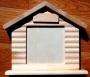 Cadre maison en bois