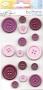 Carte 15 boutons roses-violets