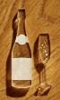 Champagne ! Bouteille et flûte en plexi