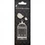 Chipboard ciselé cage et oiseaux