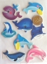 Chipboards animaux marins autocollants