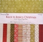 Ensemble des 12 feuilles 30X30 Back to basics Christmas