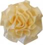 Fleur rosette rose crème