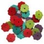 Fleurs en daim colorées