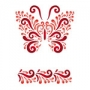 Grand pochoir Papillon et bordure arabesque