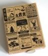 Grand tampon bois Florilèges étiquettes de Noël