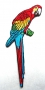 Grande broderie perroquet