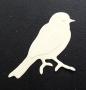 Die-cut oiseau taille moyenne embossé