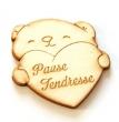 Ourson avec coeur Pause tendresse