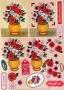 Planche 3D à découper Elaïa vase fleuri