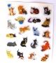 Planche de stickers holographiques chats