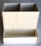 Pot à crayons à compartiments en bois défaut