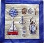 Serviette papier motifs marins