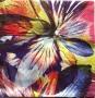 Serviette papier fleurie abstraite multicolore
