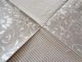 Serviette papier double motif arabesques et rayures argentées