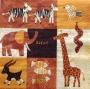 Serviette papier Afrique motifs naïfs safari