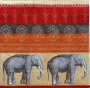 Serviette papier Inde bandes et éléphants