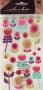 Stickers Sticko fleurs pailletées