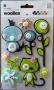 Stickers 3D feutrine Basic Grey animaux