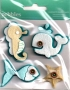Stickers 3D feutrine American crafts Pebbles animaux marins