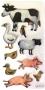 Stickers contours argentés Animaux de la ferme modèle 1