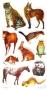Stickers contours argentés Animaux de la savane