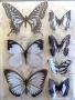 Stickers envol de papillons blanc/noir