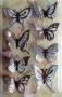 Stickers envol de papillons bleu ardoise