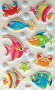 Stickers puffy animaux marins
