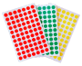 Stickers ronds, gomettes